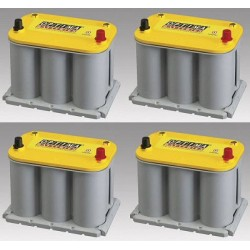 Set of 4 batteries OPTIMA...