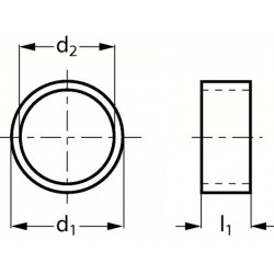 Bague entretoise en acier 20.8 mm D30-7/8