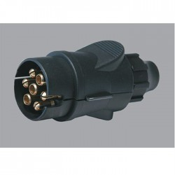 Plastic 7-pin male plug for...