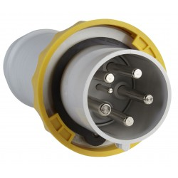 Male plug 63A PK yellow...