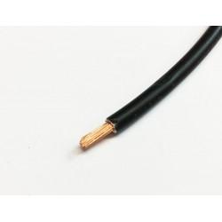Câble souple 1mm2 noir le...