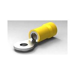 Yellow 4mm ring crimp...